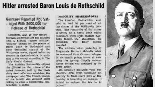 Hitler BOOTS Talmudic Jew Rothschild's Influence and Banking to the CURB