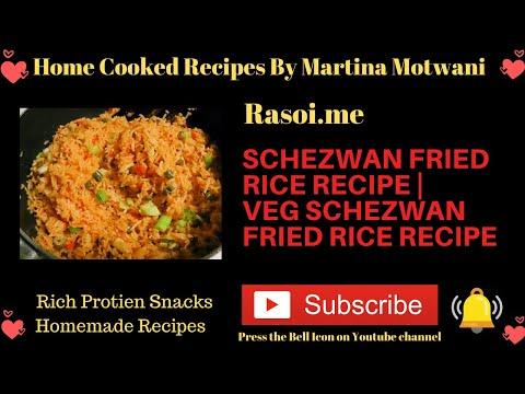 How to make Schezwan fried rice recipe | veg schezwan fried rice Recipe Rasoi.me- By Martina Motwani