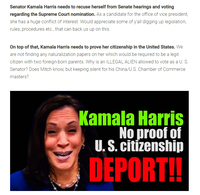 Harris Citizenship
