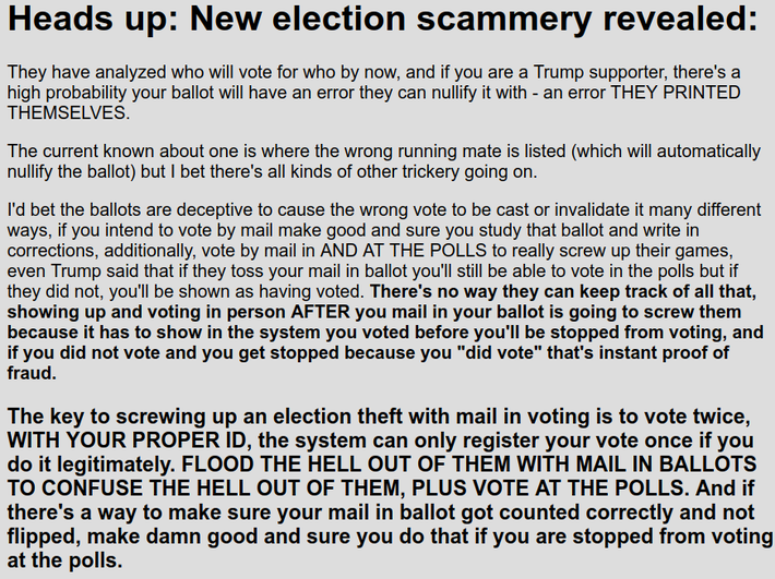 Heads up - New election scammery revealed - Jim Stone