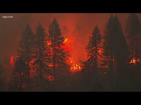 10 wildfires actively burning in Oregon