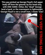 George Floyd mannequin for Elite False Flag Race Wars