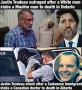 Why does crypto-jew Justin Trudeau only show outrage when Muslims are victims