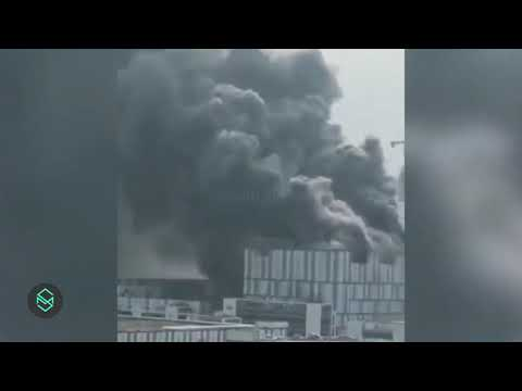 Massive Fire breaks out at Huawei R&D laboratory in Songshan Lake, Dongguan, China