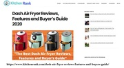 dash air fryer review