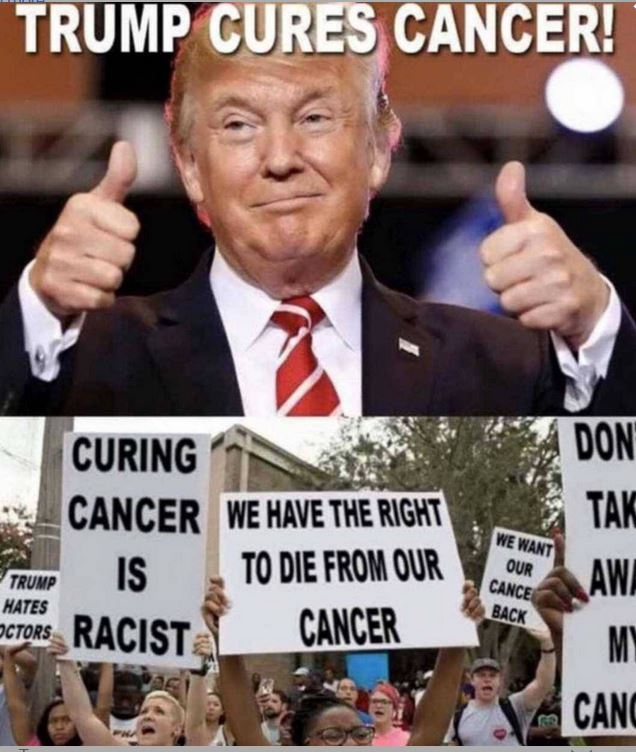 Trump cures cancer