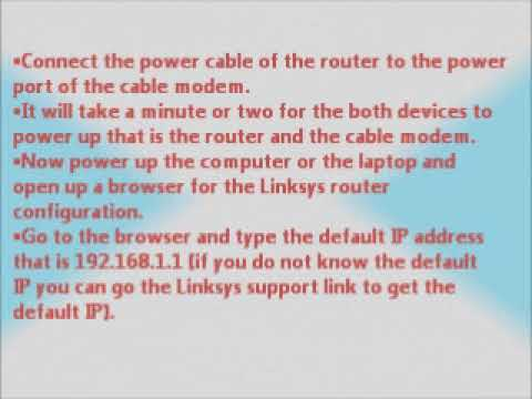 How to configure Linksys router