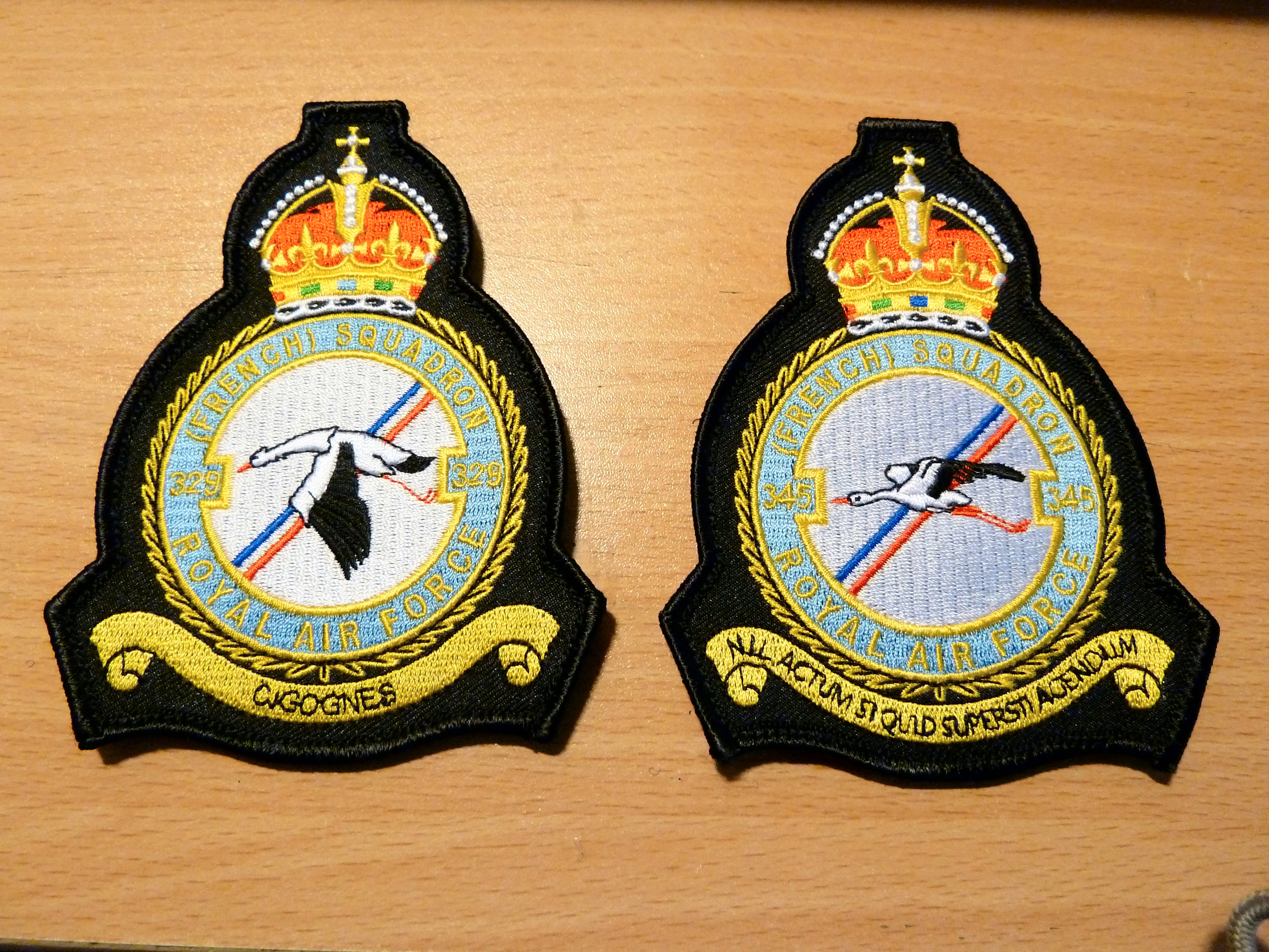 WW2 Free French Squadrons 329 & 345 badges
