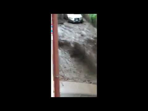 Flood hits in Monteforte Irpino,Avellino Province,Italy September 27,2020
