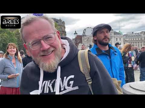London Protest, Trafalgar Square. Interviews with the Protestors, 27 Sept 2020