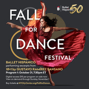 Ballet Hispánico to perform in New York City Center's Digital Fall for Dance Festival Live from the Stage