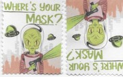 artistamps Kathy Barnett-where'sYOur Mask?