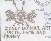 envelope stamp-Adam R-MailArt