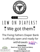 Fixing Fathers Diaper Bank is here!