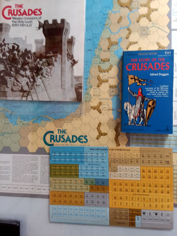 SPI Crusades on game table