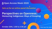 Perspectives on Openness: Honouring Indigenous Ways of Knowing