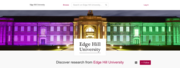 Open Access Data and Teaching Materials at Edge Hill University