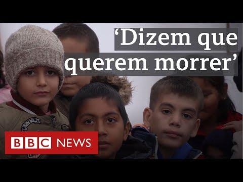 O campo de refugiados onde 'crianças dizem querer morrer'
