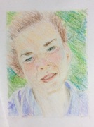 portrait in crayons
