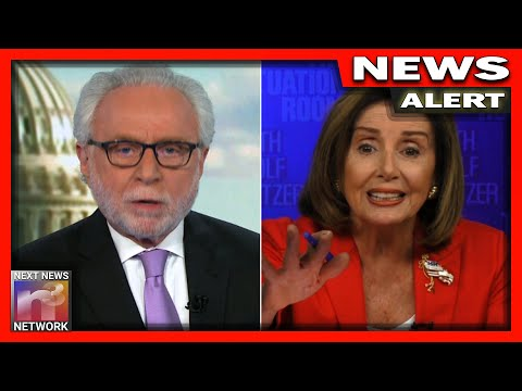 OMG! CNN's Wolf Blitzer STUNS Crazy Nancy Pelosi with HUGE Slap in the Face!
