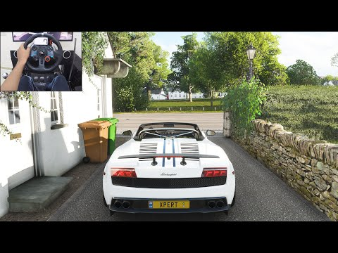 Lamborghini Gallardo LP570-4 Spyder Performante - Forza Horizon 4   Logitech g29 gameplay