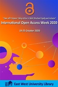 EWU Library Celebrating International Open Access Week 2020 with a series of program