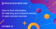 How to find the information for learning and research activity in open access sources