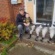 Peter & Hunter's first goose picture