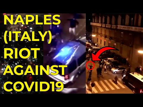 NAPLES (ITALY) RIOT AGAINST COVID19 LOCKDOWN *POLICE FIGHTS*