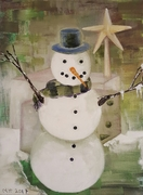2017-Snowman With Carrot Nose _9inx12in