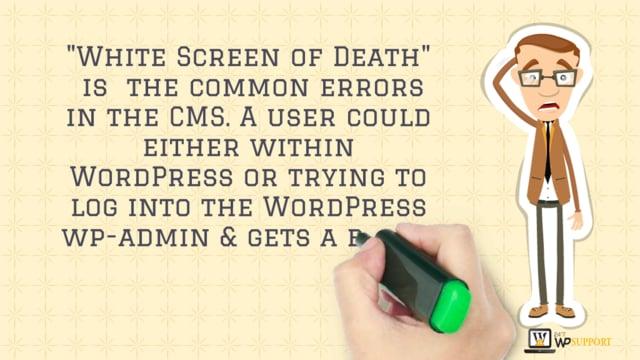 How to Fix WordPress white screen of death Error?