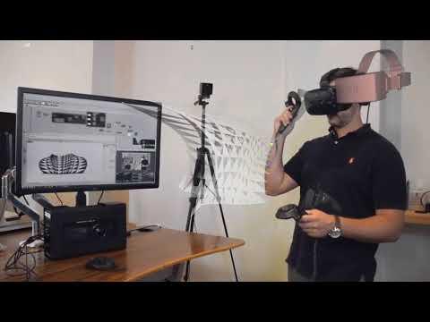Mindesk VR CAD + Grasshopper - Parametric design