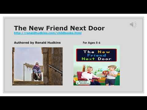 The New Friend Next Door- Children's Book, Fun, Life Lesson
