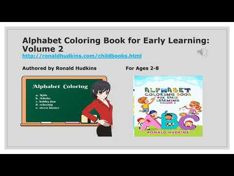 Alphabet Coloring Book for Early Learning: Volume 2