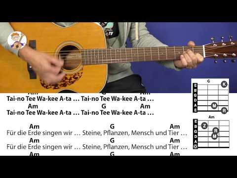 Taino Tee - Originallied der Indianer, deutscher Text Pit Budde, mit Akkorden und Lyrics