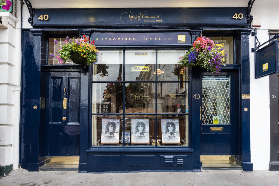 Grays of Westminster shop front