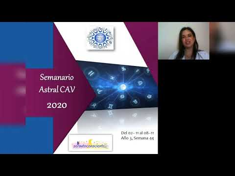 Semanario Astral CAV Noviembre 2020 Semana 44