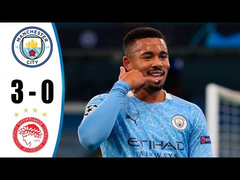 ฟูลแมตช์+ไฮไลท์ฟุตบอล UCL / Manchester City vs Olympiakos 3-0 All Goals & Extended Highlights HD 03/11/2020