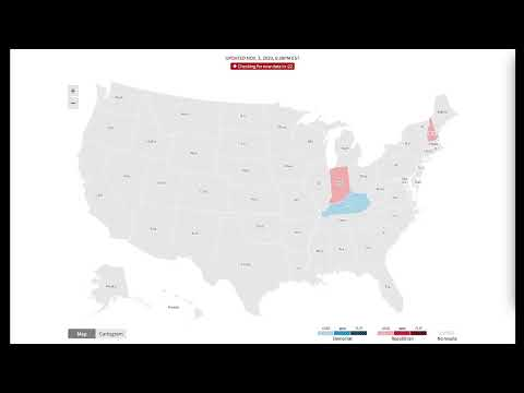 LIVE: Watch the 2020 electoral map as votes come in