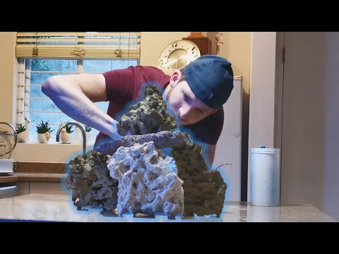 Building my Reef Rock Aquascape!
