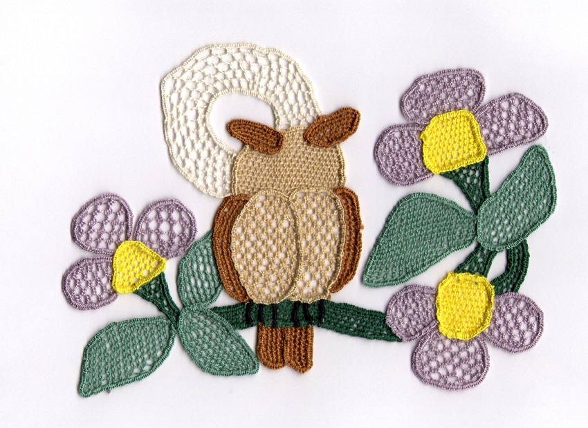 My Owl needlelace 6