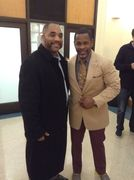 master g of sugarhill gang with kamal Imani