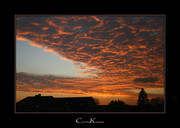 Sun Pillar in Cloud Textures