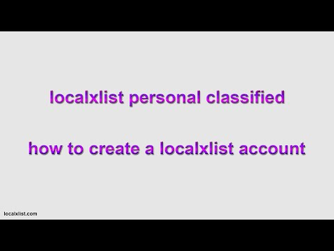 how to create a localxlist classified account