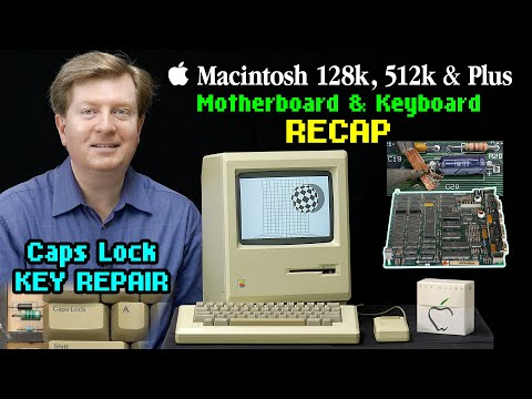 Logic board & Keyboard Tantalum RECAP [Macintosh 128k, 512k & Plus]