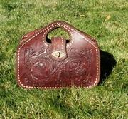 Tooled Leather Handbag Tote