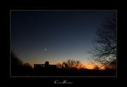 Evening Sky with Moon + Jupiter