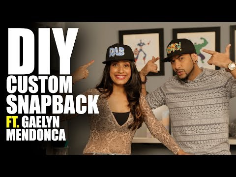 How to make a DIY Custom Snapback Feat. VJ Gaelyn