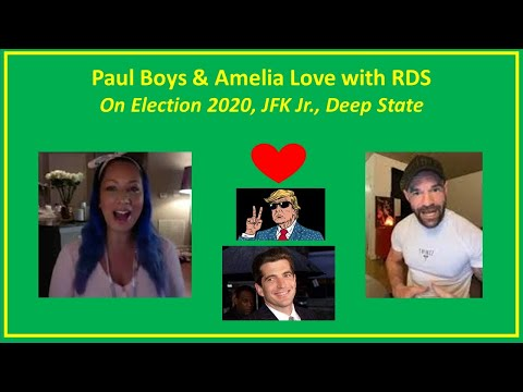 Robert David Steele Amelia Love Paul Boys JFK Jr  Donald Trump Election 2020 Deep State