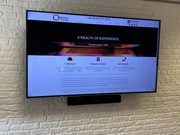 Larger Boardroom Screen with Video Conferencing